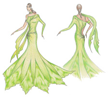 Design Dress Drawing Smooth dress designed for